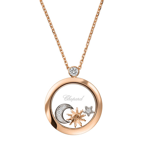 Chopard Halskette Happy Sun, Moon and Stars