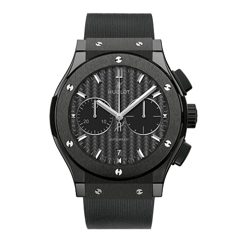 HUBLOT Herrenuhr › Classic Fusion Ceramic Black Magic Chronograph ‹