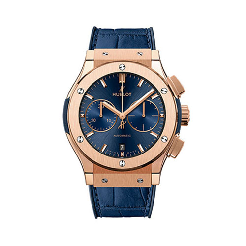 HUBLOT Men's Watch > Classic Fusion Chronograph King Gold Blue <