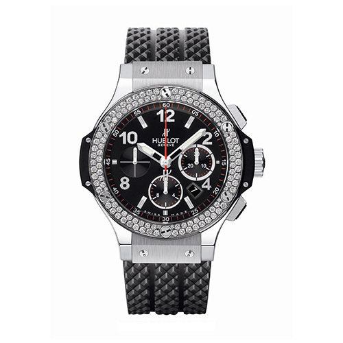 HUBLOT Damenuhr › Big Bang Steel Ceramic Diamonds‹